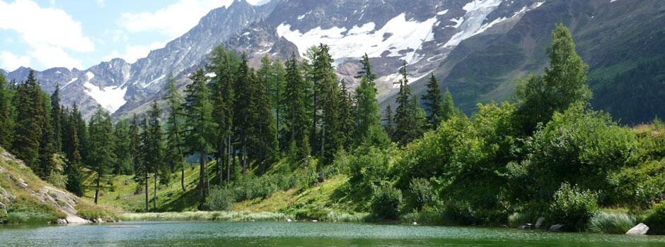 Schöner Gebirgssee nahe dem Chalet Wachsmuth