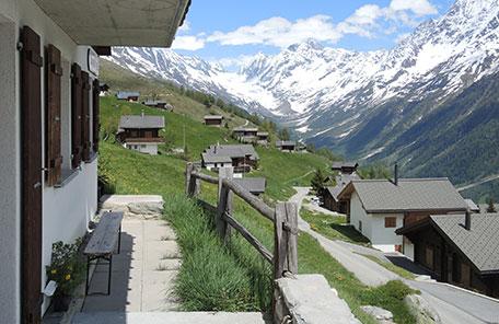 Chalet Wachsmuth Terrassenblick nach links
